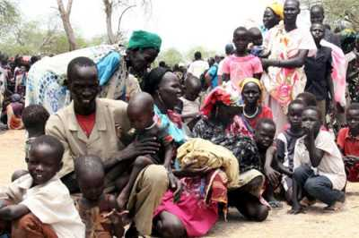 Upper Nile residents wait for assistance after being displaced from their homes in the ongoing civil war in South Sudan (Source: <a href=